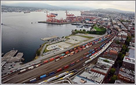Intermodal Shipping Hub, Seattle/Tacoma.